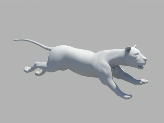 Animated Lion Rig 3d model Maya files free download - modeling 44072