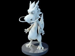 Cute Baby Chinese Dragon 3d model