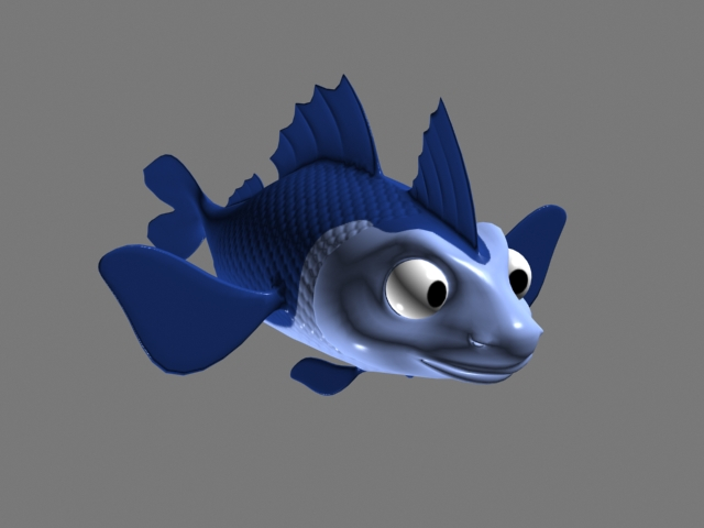 Cartoon Fish Rig 3d model