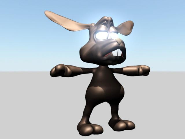 Cartoon Hare 3d model