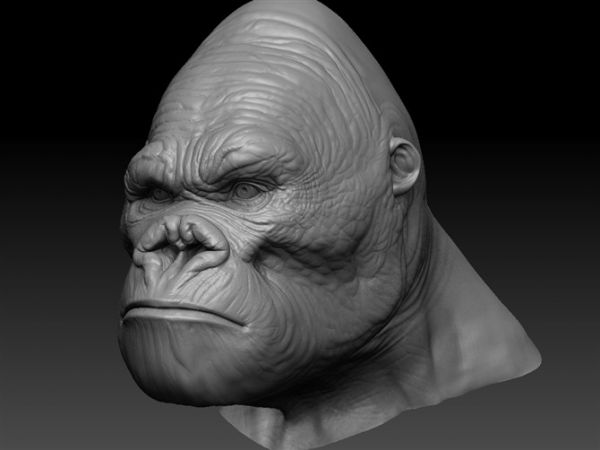 King Kong Head 3d Model Maya Files Free Download