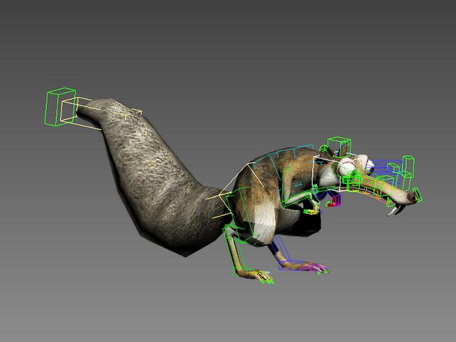 Ice Age Scrat Rig 3d model