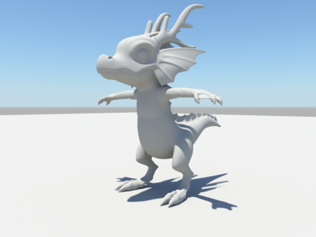 Cute Baby Dragon 3d model