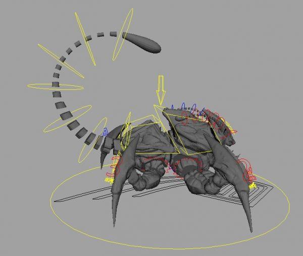 Scorpion Creature Rig 3d model