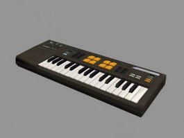 Casio SK-5 Keyboard 3d model