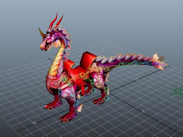 Dragon Mount Animation 3d model