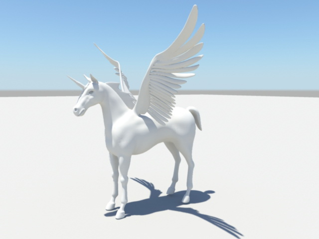Unicorn with Wings 3d model