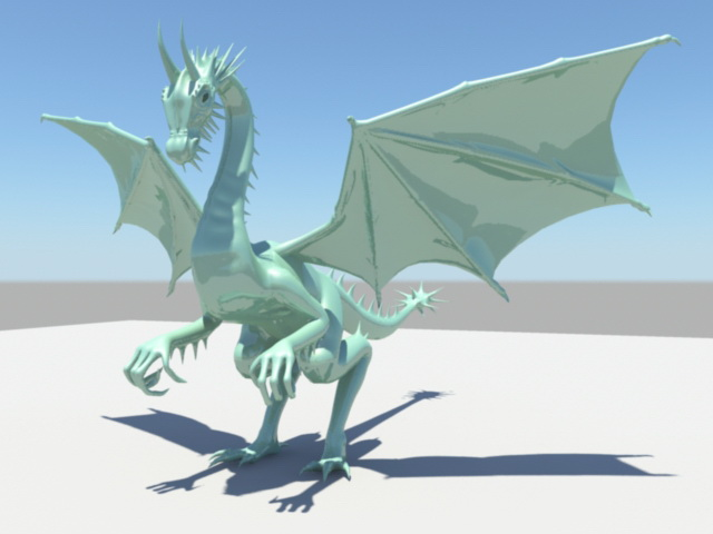 Green Dragon 3d model