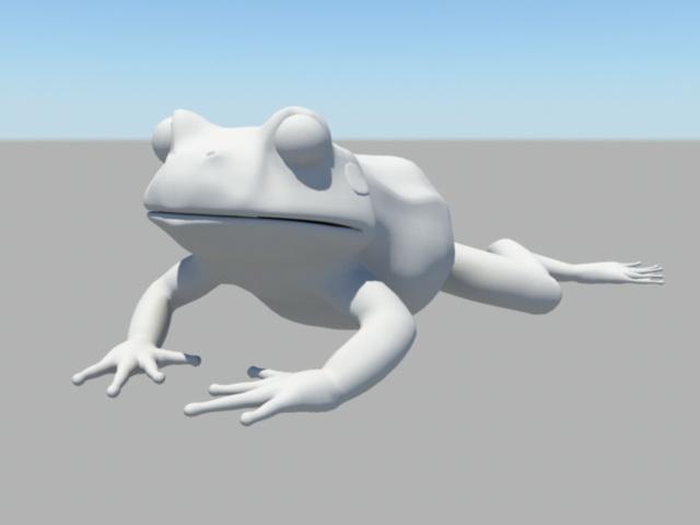 Jumping Frog 3d model