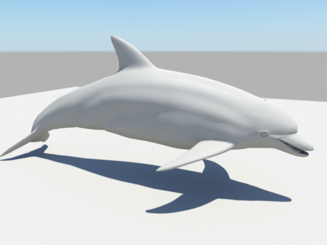 Common Dolphin 3d rendering