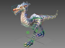 Compsognathus Dinosaur Animation 3d model