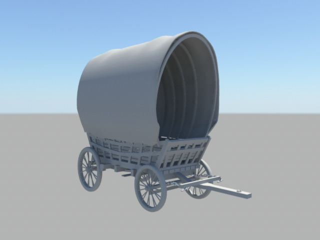 Conestoga Wagon 3d model