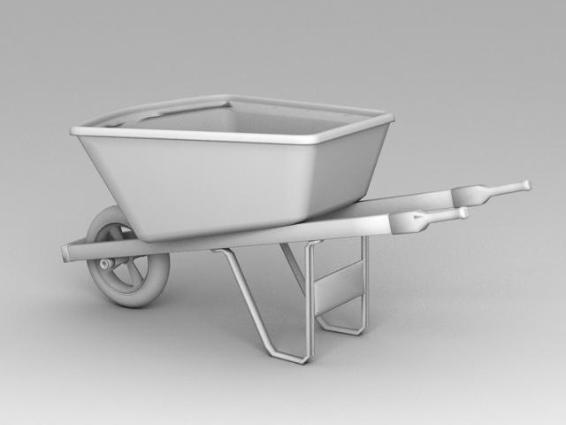 Traditional Wheelbarrow 3d model