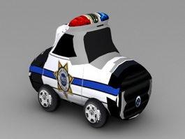 Cartoon Police Car 3d preview