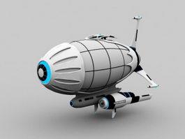 Sci-Fi Airship 3d model