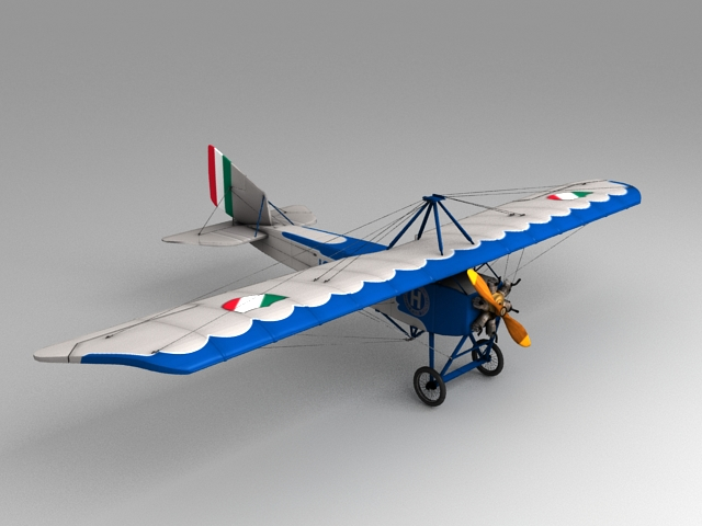 Early Aviation Aircraft 3d model