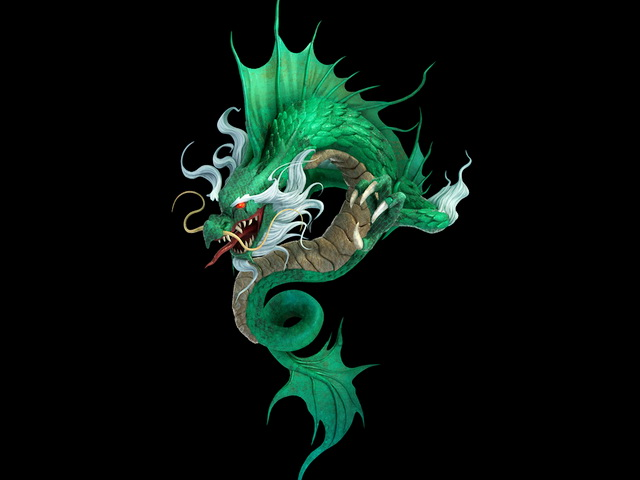Japanese Water Dragon 3d model