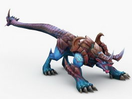 Alien Beast Creature 3d model