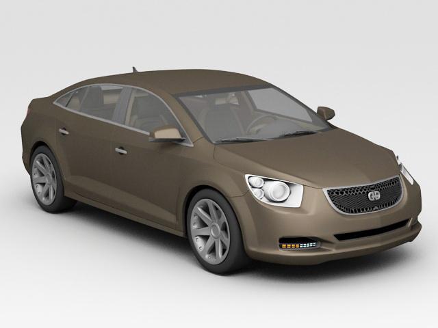 Luxury Sedan Car 3d model