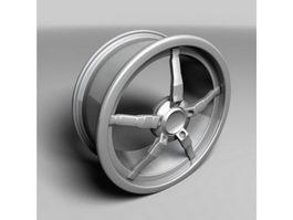 Oki Alloy Wheel 3d model