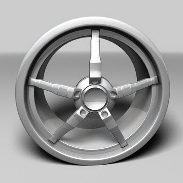 Oki Alloy Wheel 3d model