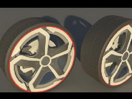 DF06 Wheels 3d model