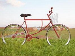 Vintage Cruiser Bike 3d model