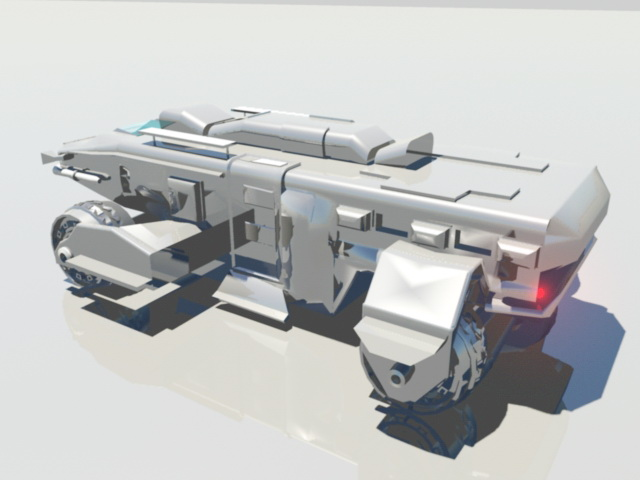 Armored Personnel Carrier 3d model
