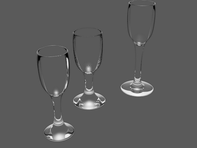 Shot Glasses 3d model