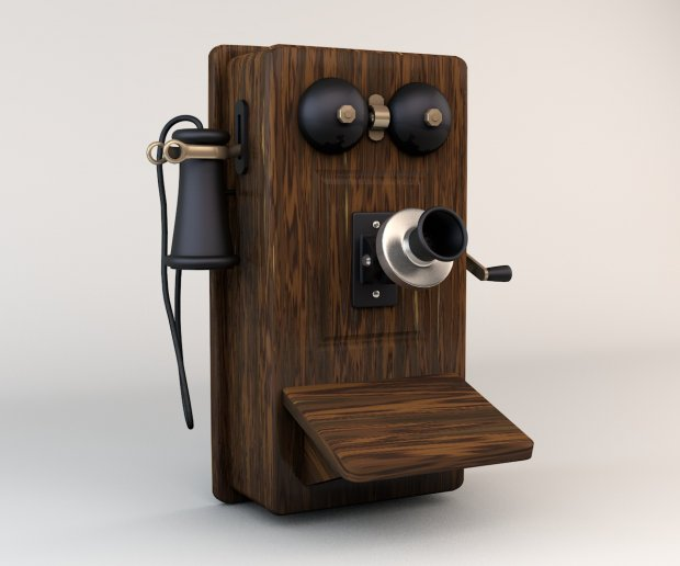 First Telephone 3d model