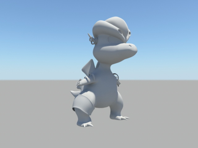 Cute cartoon dinosaur 3d model