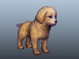 Cute Beagle Puppy 3d model