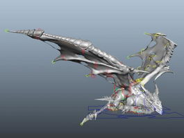 Evil Dragon Rig 3d model