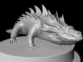 Crocodile Creature 3d model