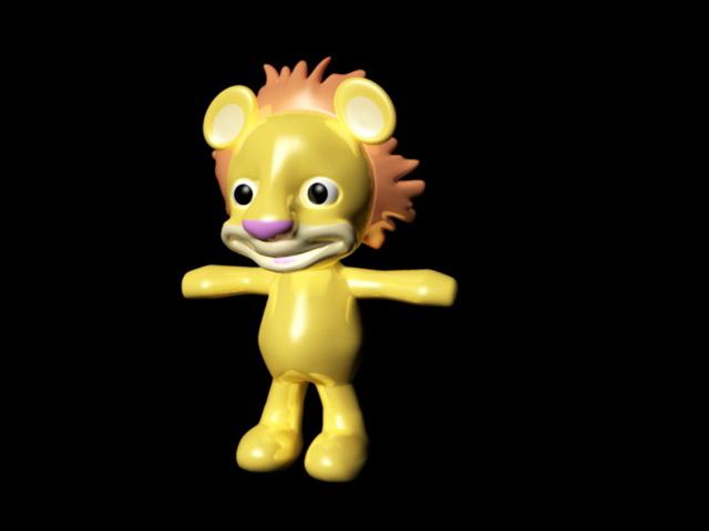 Cute Cartoon Lion Rig 3d model Maya files free download - modeling