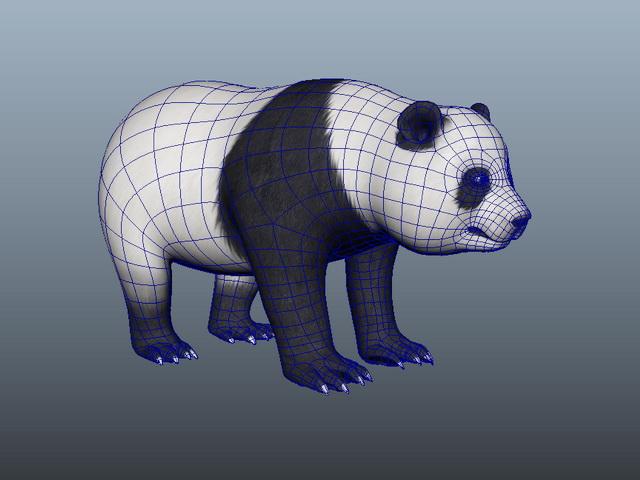 Panda Bear 3d model Maya files free download - modeling 44210 on CadNav