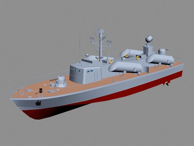 Modern Missile Boat 3d model