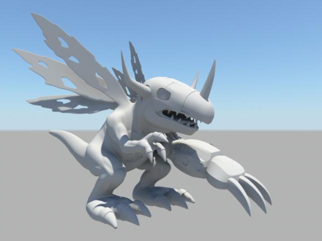 Mechanical Dinosaur 3d model