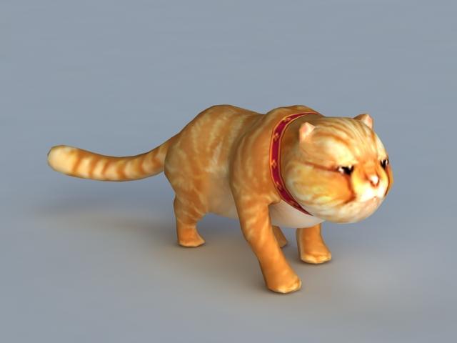 Garfield Cat Rig 3d Model 3ds Max Files Free Download