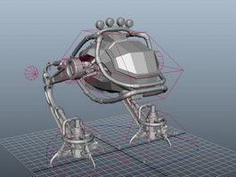Walking War Robot 3d model
