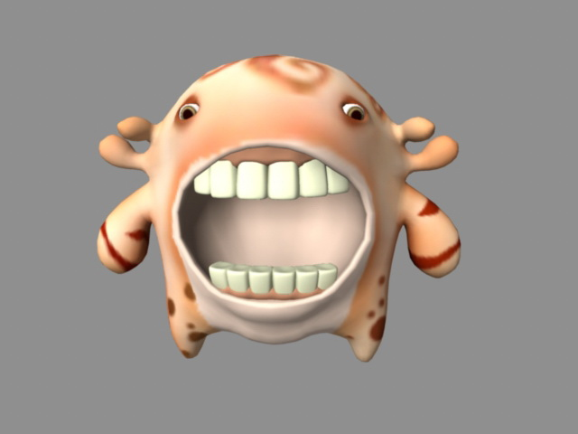 Big Mouth Monster 3d model Maya,Object files free download