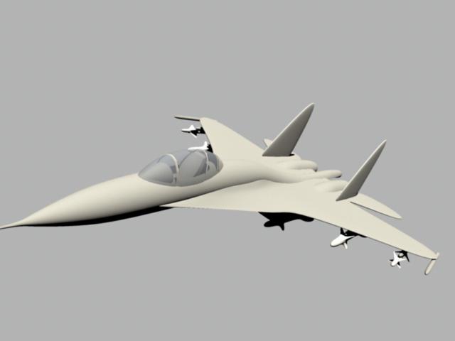 Su-27 Fighter Aircraft 3d model