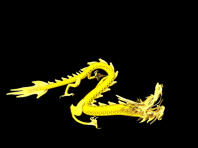 Chinese Gold Dragon Animation 3d model