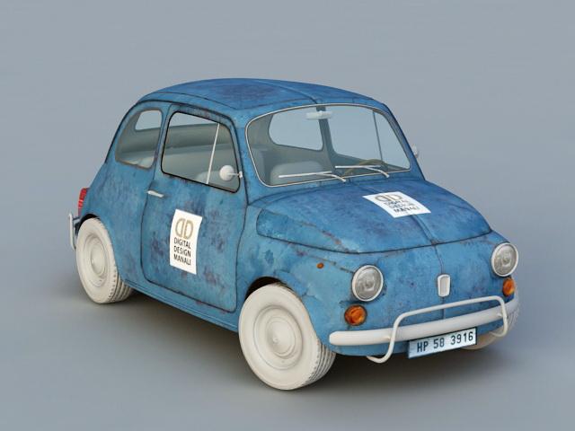 1959 Fiat 500 N 3d model