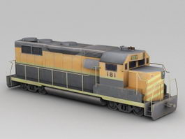 Train Enginecar 3d model