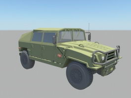 Military Jeep Truck 3d model