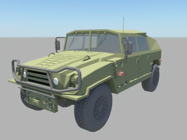 Military Jeep Truck 3d model