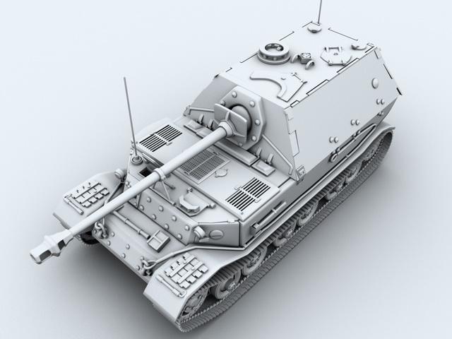 Ferdinand Tank Hunter 3d model