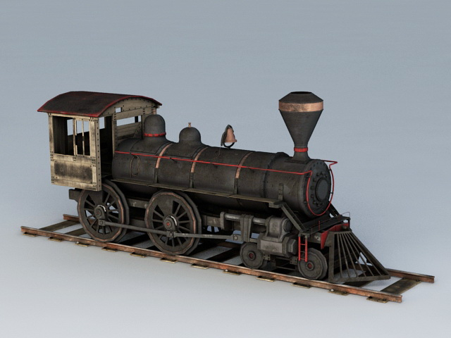 Old Locomotive Train 3d Model Object Files Free Download