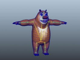 Anthropomorphic Bear Rig 3d model